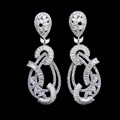 Luxury Wedding Jewelry Bridal Earring Crystal Cubic Zirconia Diamond Earrings