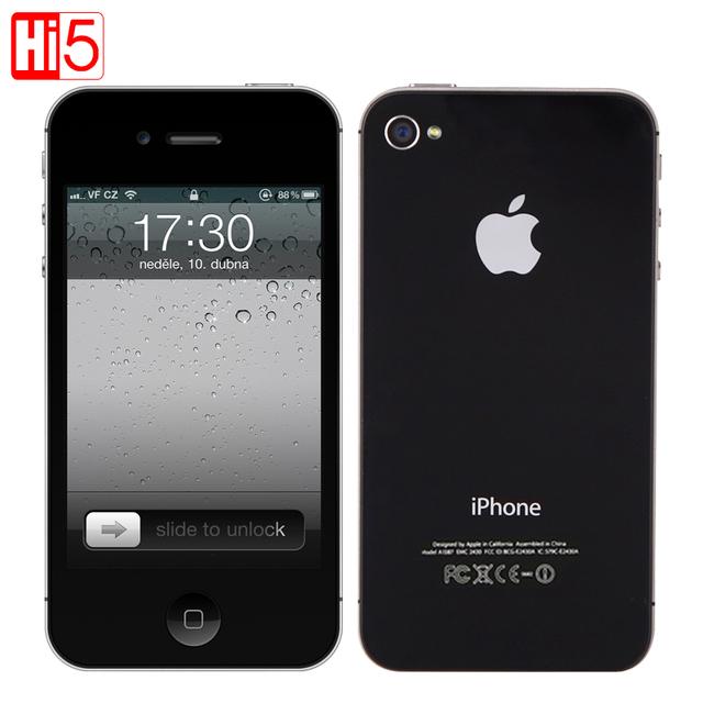 Оригинальный Apple iPhone 4S factory Unlocked Мобильный Телефон ios Сенсорный 16 ГБ 3 Г WI-FI GPS 8MP 1080 P IPS бесплатная доставка бесплатная подарок