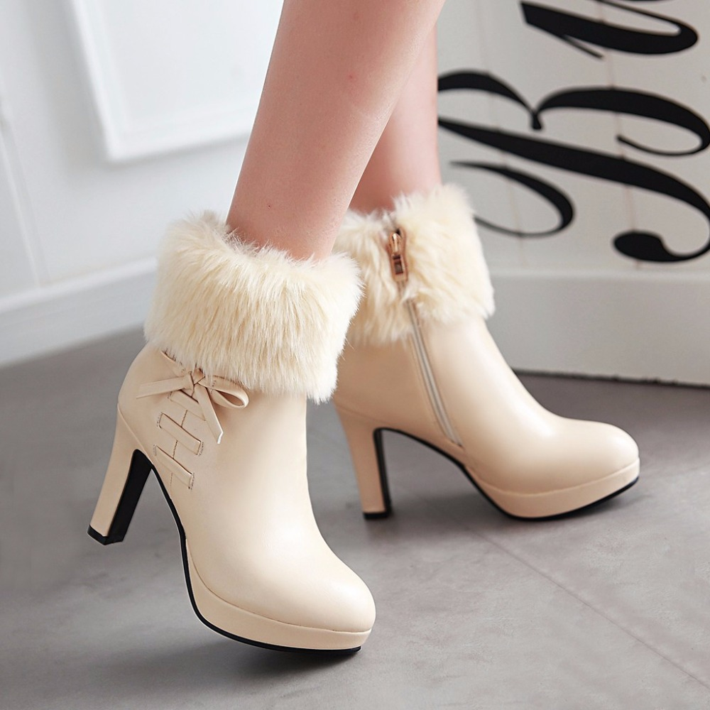 new 2016 high heels boots autumn and winter boots