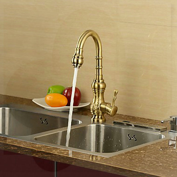 Antique Inspired Kitchen Faucet Deck Mounted Mixer Tap - Antique Bronze bathroom faucets price<br><br>Aliexpress
