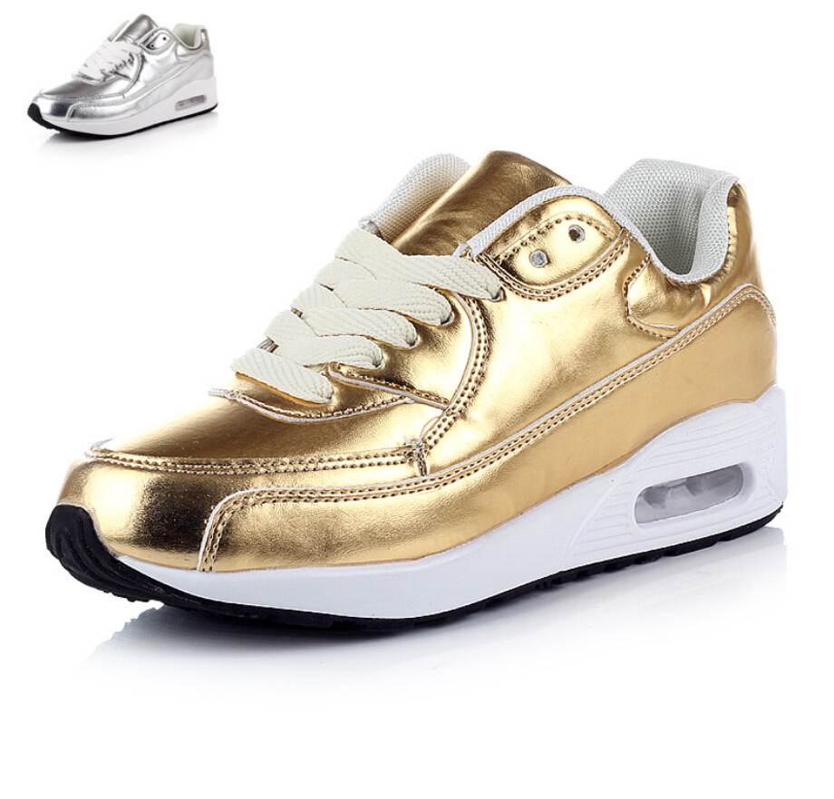 2015 s sneakers fashion casual shoes silver gold