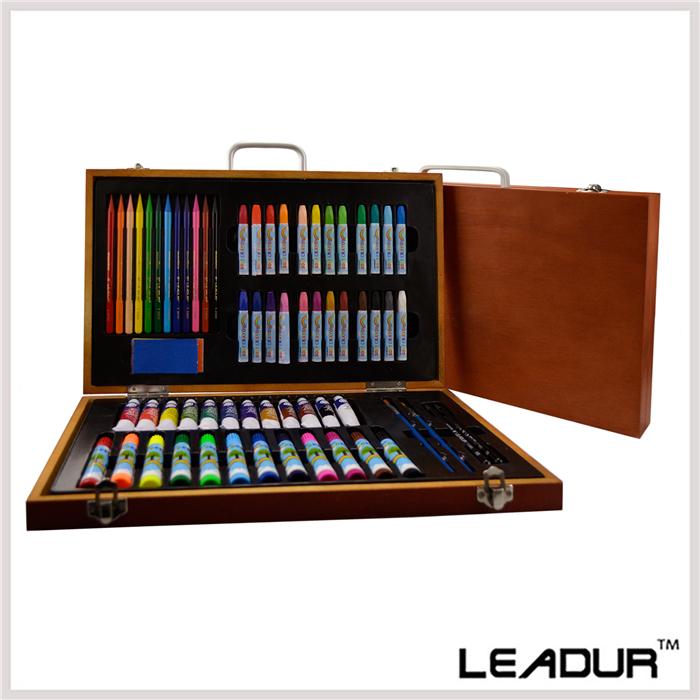 65pcs/set Art Set for Children Students Art Supplies Oil Painting Stick Paint Brush Colored Pencil Brush School Supplies<br><br>Aliexpress
