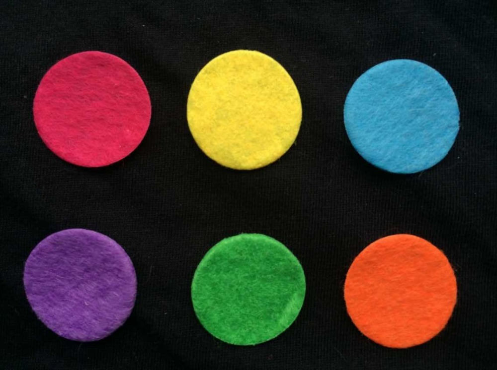10EXCLUSIVE Supply 8 Colors 25mm Essential Oil DIffuser Locket Refill Pads  -  Jewelry store