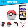 Hot sale Cute Magic Ball Power bank Pokeball Toy 12000mAh Battery Charger with LED Projector Stand