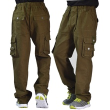 For 120-166cm Boy Cotton Cargo Pants Casual/Camping/Outdoor/Hikeing Camouflage Military Boys Actical Trousers free Shipping(China (Mainland))