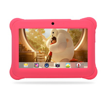 Alldaymall 7″ Quad Core Android Kids Tablet Dual Camera 8GB HD Kids Edition w/ iWawa Pre-Installed Pink Kid-Proof Silicone Case