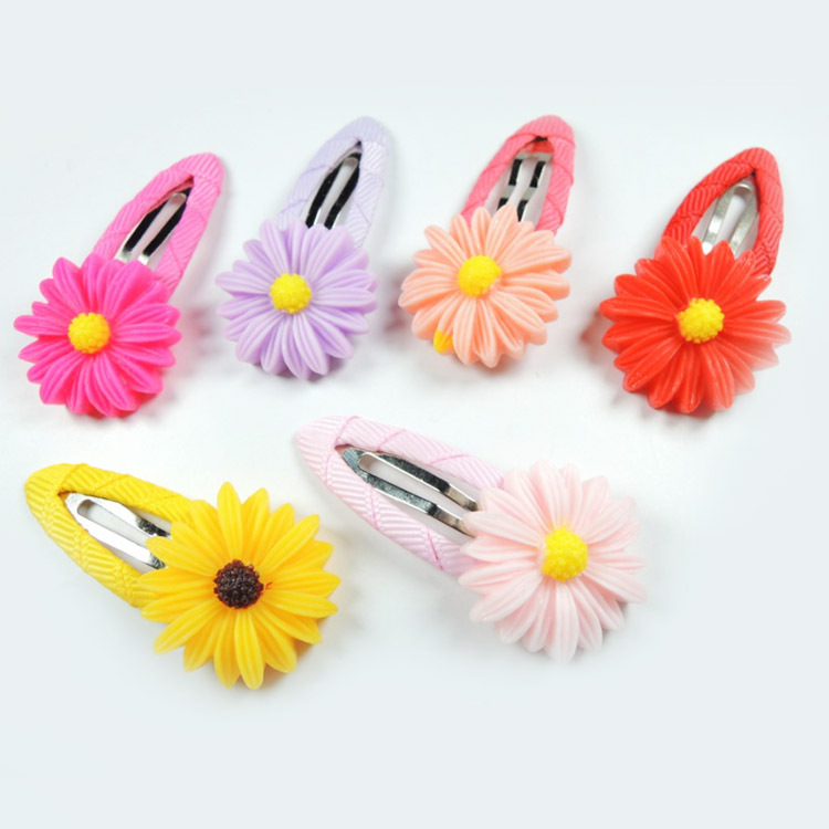 4.5*2.5 CM Fashion Hair Accessories Toddler Kids Flower Shaped Hairpins 2pcs Baby Girls Hair Clip 6 Colors BB-1619(China (Mainland))