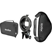 Floading Adjustable Godox 60 x 60cm Flash Softbox Kit with S-Type Bracket Bowen Mount Holder For Camera Photo Studio