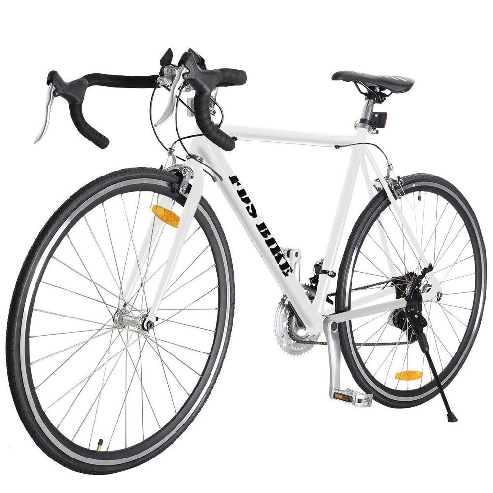 21 Speed Mountain Bike 54cm Aluminum Alloy 700C Bike Frame Road Bike Cycling Racing Bicycle Bicicletas Black /White(China (Mainland))