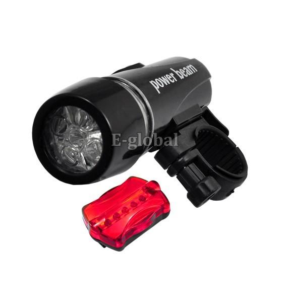 5Pcs/Lot 2 in 1 Waterproof LED Bike Bicycle Front Light+Rear Flashlight  184