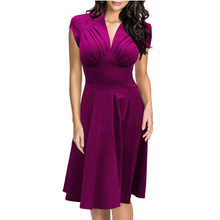 High Fashion Simple Office Lady Clothing Pure Color Summer Sexy Businesss Wear for Woman with S-XL Sizes L36103-4