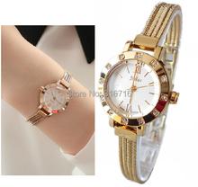 Mujeres relojes pulsera de acero inoxidable pulsera JULIUS ronda moda Rhinestone escala romano reloj mujeres reloj 2014 JA-715