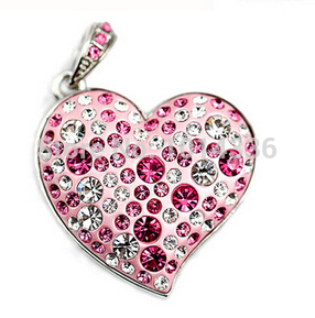 100% real capacity fashion lovely jewellery Heart Gift diamond 1/2/4/8/16/32GB USB Flash Drive Memory card Stick Pen S48 gift(China (Mainland))
