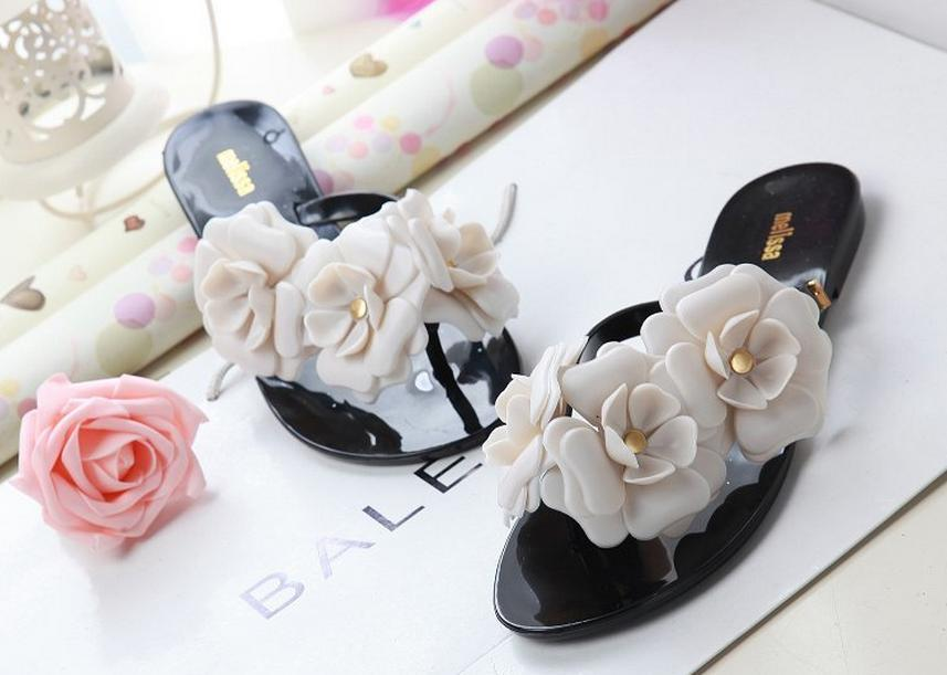 2015 jelly flowers leisure PU sandals flip-flops - Online Store 331468 store