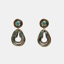 Girlgo nouveau ZA couleur or boucles d'oreilles Vintage pour femmes mode cristal bohème déclaration métal frangé goutte boucle d'oreille bijoux(China)