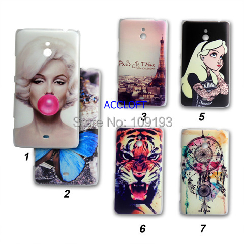 2014 NEW 6 Style Cute beautiful Girl tiger Painted nokia lumia 1320 case Cover hard - accloft .COM's store