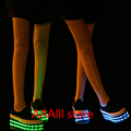 Women s shoes boots LED USB Charge canvas Breathable Glow shoe The new muffin Deep mouth