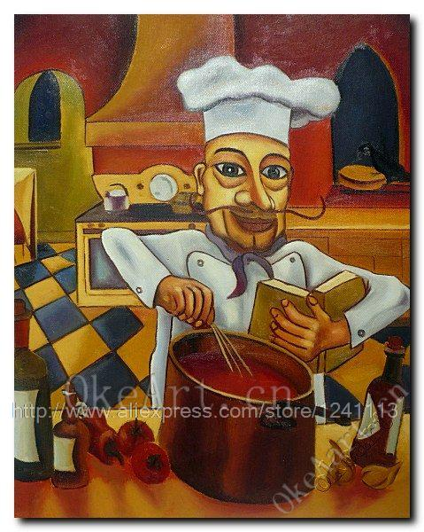 The happy chef spot decorative painting cook to do cake bottles tomatoes, garlic kitchen painting(China (Mainland))