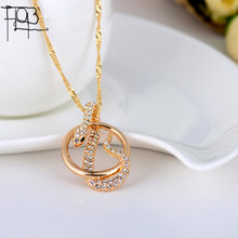 2015 New Arrivals18K Gold Plated Austrian Crystal Pendant Necklace Fashion Jewelry Crystal Snake Pendants Women Lady