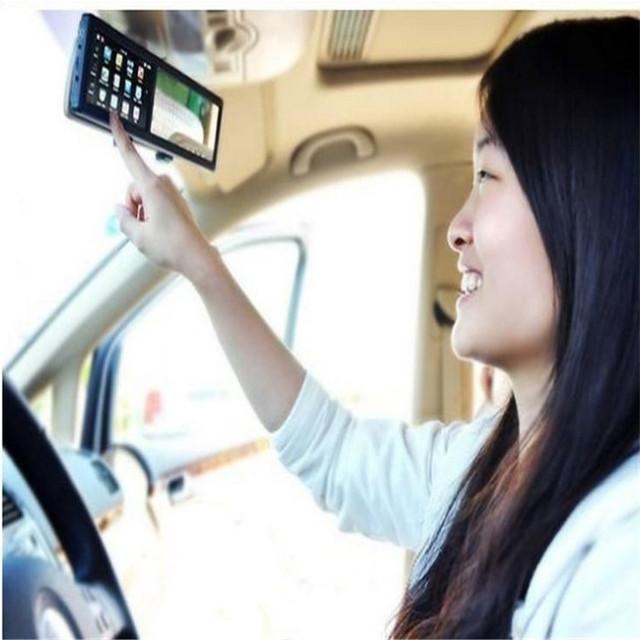 Бесплатная доставка Универсальный Многофункциональный 4.3 дюймов TFT-LCD АВТОМОБИЛЬНЫЙ GPS Навигатор для Зеркало Заднего Вида Win6.0 Bluetooth av-в FM 4 Г бесплатные Карты