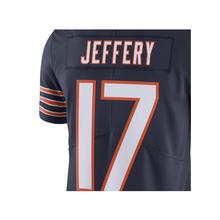 Embroidery Men's Alshon Jeffery 17# Jersey Adult Navy Color Rush Limited Jeffery Jerseys 100% Stitched Wholesale Free Shipping(China (Mainland))