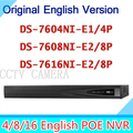 Original english version NVR Embedded Plug Play NVR DS 7604NI E1 4P and DS 7608NI E2