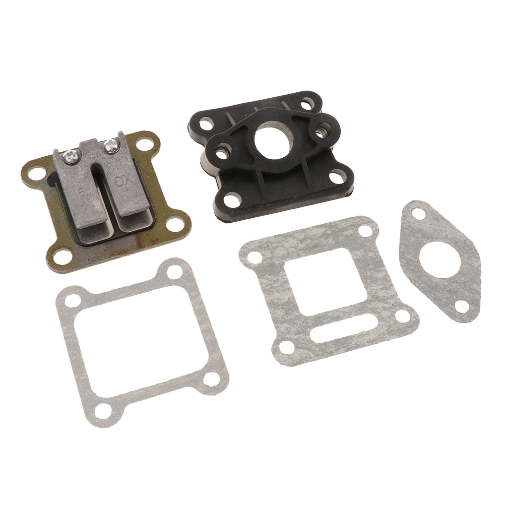 Red Valve and Inlet Intake Manifold with Gaskets For 47cc 49cc Mini Moto ATV Dirt Pocket Bike ATV Quad Minimoto Go Kart Scooter