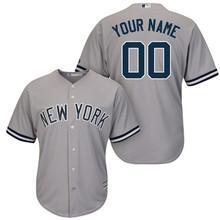 MLB New York Yankees Hommes de Marine Blanc/Marine Accueil Cool Base  Baseball Personnalisé Baseball Jersey