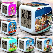 Детские игрушки Мигающий свет Будильник 7 Цветов Светящийся LED Изменение Цвета Цифровой Будильник, Отображает время, дату и Температура