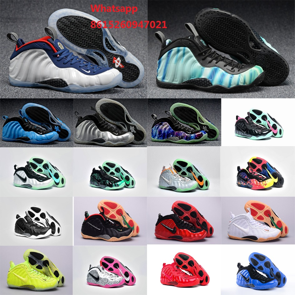 New 2016 Cheap womens air penny hardaway shoes olympic USA yellow pure platinum galaxy AS Northern Lights with original box(China (Mainland))