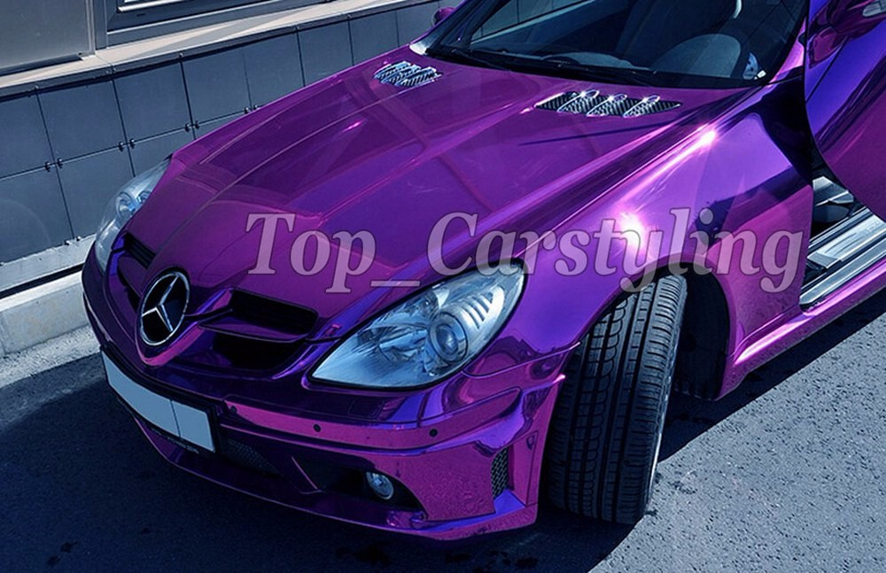 VIOLET purple chrome stretchable mirror car wrapping film with air free (3)