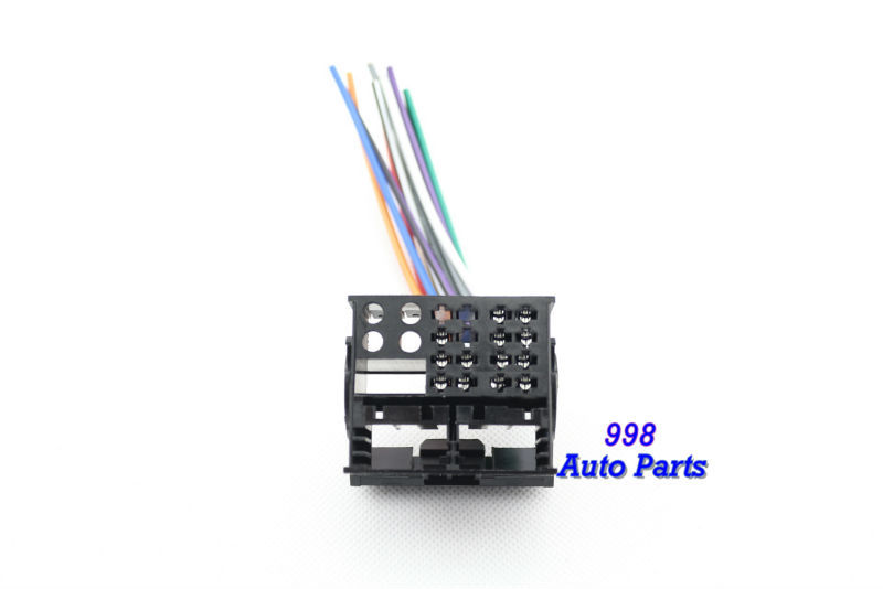 Factory Radio Stereo Installation Reverse Male Wire Wiring Harness Plug RCD510/310 RNS310(China (Mainland))