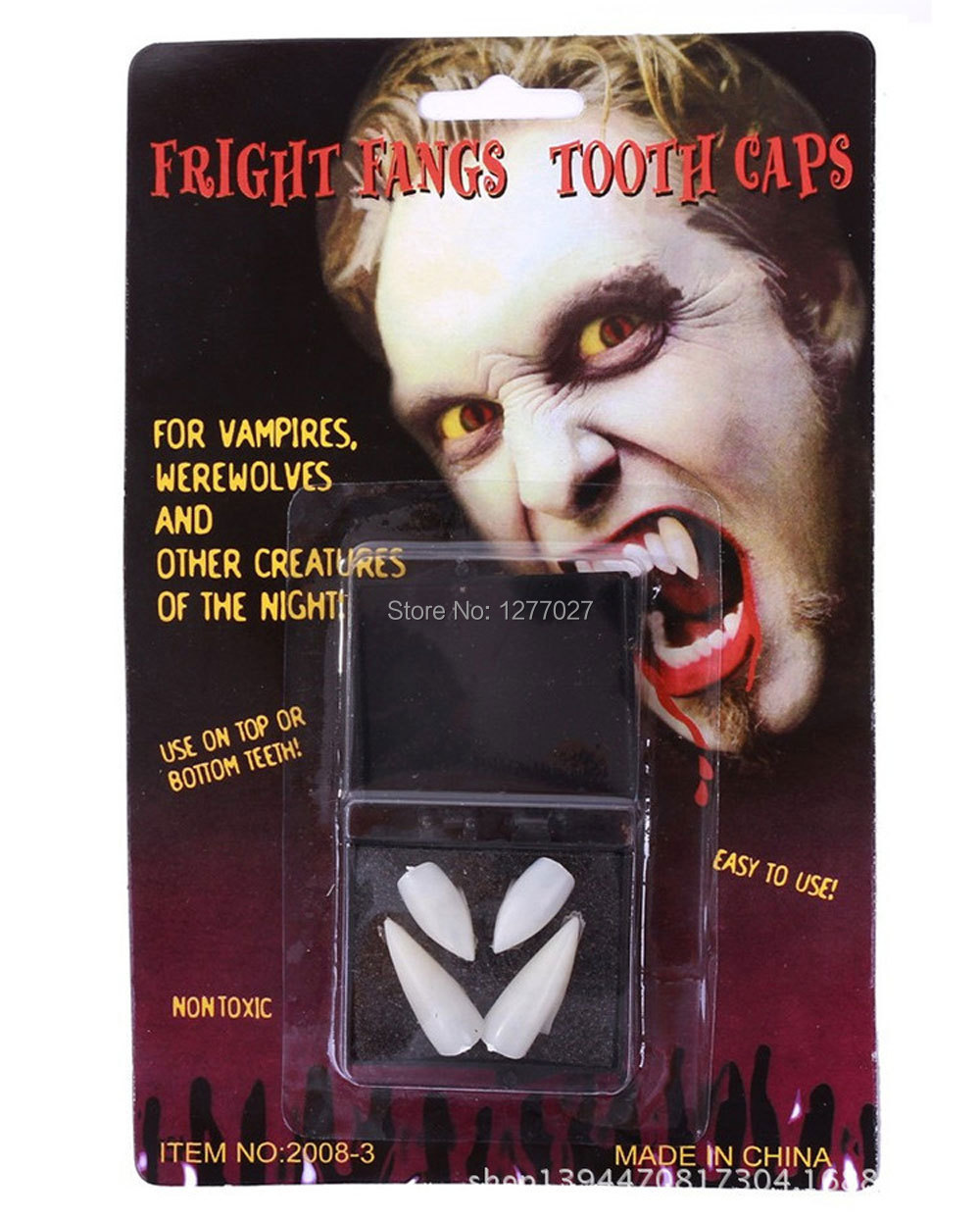 2 packs ( 8pcs ) White Vampire Fangs Teeth Special Effects Dental Putty Costume Halloween NzHaR(China (Mainland))