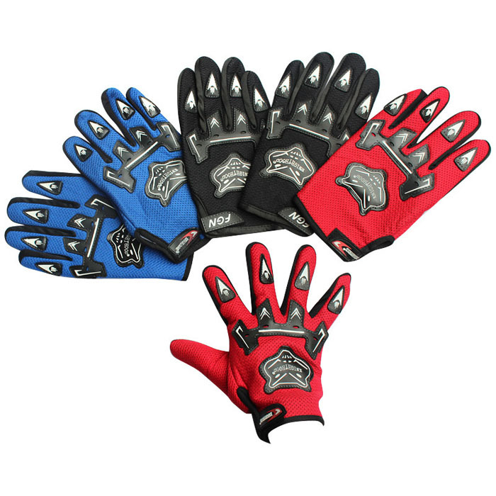 Road Riding Cycling Gloves blue black red color full finger cover breathable mountain bike bicycle gloves suitable for man woman(China (Mainland))