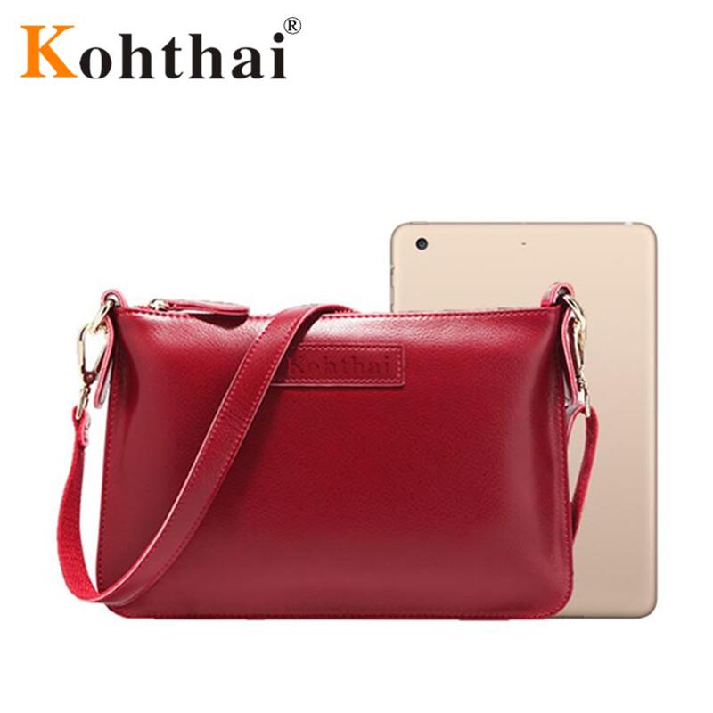 kohthai 2016 Simple Genuine Leather Flap Women's Bag Designers Cheap Handbags Free Shipping Real Leather Bags FB197(China (Mainland))