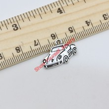 Buy 20pcs Vintage Tibetan Silver Plated Cute Car Charms Beads Pendants Jewelry Making DIY Handmade 14x20mm D101 for $1.63 in AliExpress store