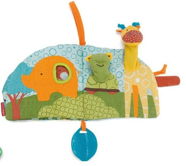 0-12 months Baby giraffe book toy Knowledge Multi-touch Multifunctional Early Education Bed Around music Fun 3D Cloth Book - PRICE SHOP store