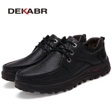 DEKABR 2017 Flats New Arrival Authentic Brand Casual Men Genuine Leather Loafers Shoes Plus size 38-48 Handmade Moccasins Shoes(China (Mainland))