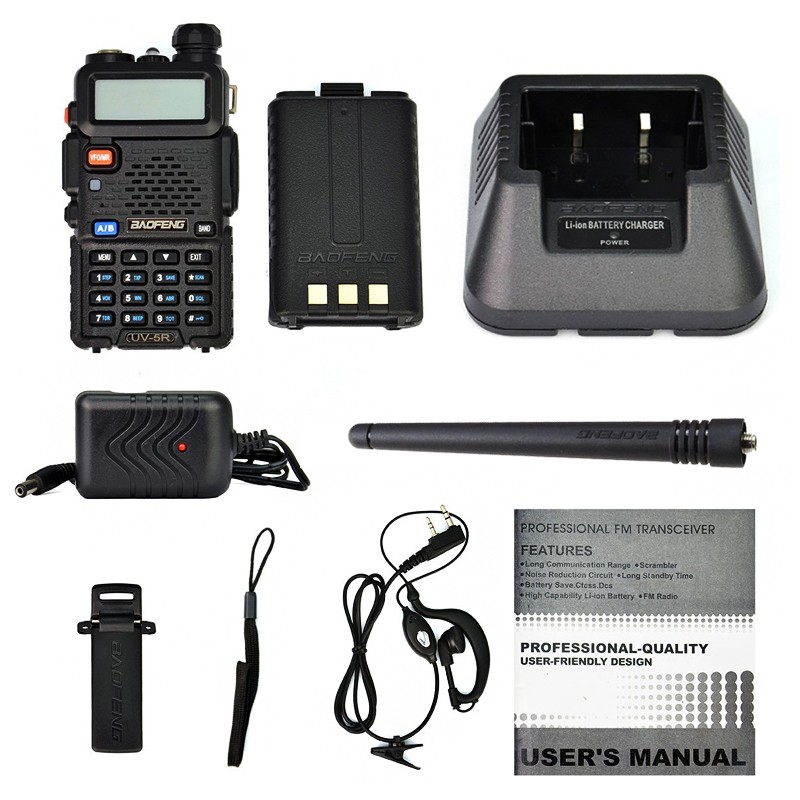 Baofeng-UV-5R-Handheld-Two-Way-Radio-Walkie-Talkie-For-VHF-UHF-Dual-Band-Ham-CB