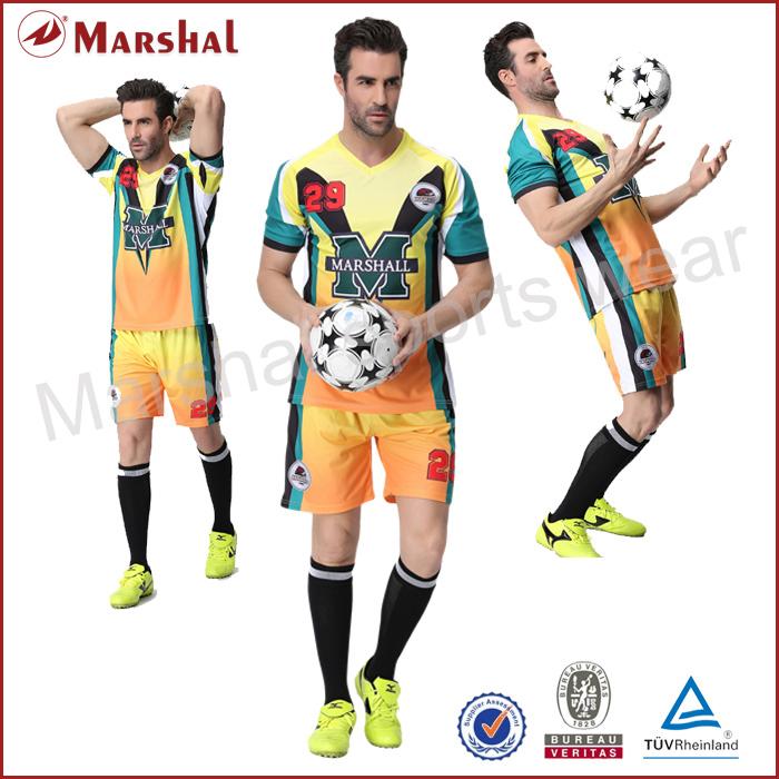 Custom New Pattern shirt,new model sublimation soccer t shirt,soccer sets cheap wholesale(China (Mainland))