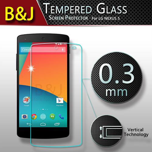 Original Tempered Glass Screen Protector Google LG Nexus 5 Anti-shatter Protective Phone Film - Guangzhou B&J Trading Co., Ltd. store