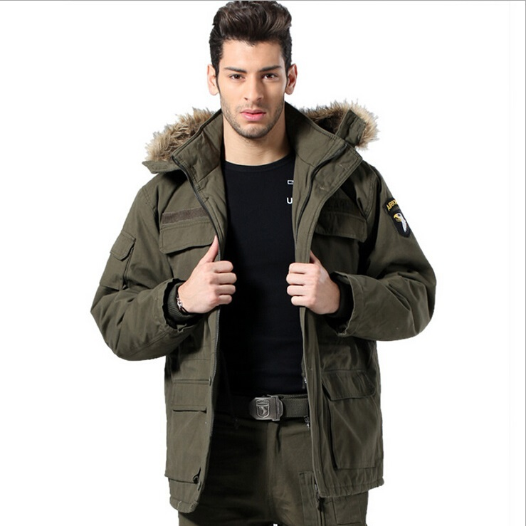 Winter Men's Military Parka Men Jackets Coats Army Green Warm Outdoors Parkas - Hard-working people store
