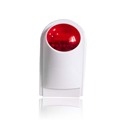 433MHz Wireless siren volume 110dB red flash strobe light outdoor siren for security alarm system