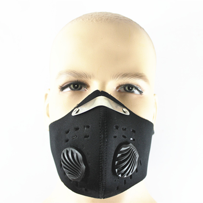 PM2.5 Carbon Protective Filter Mask Two Exhale Valves Dustproof Mouth-muffle Outdoor Sports Bike Motorcycle Windproof Mask 6232(China (Mainland))