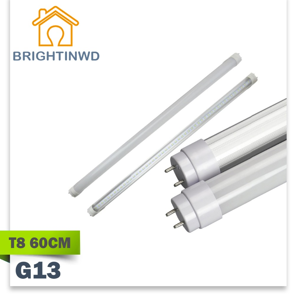 LED t8 G13 tube linestra strip light 60cm 110-265VWide voltage Integrated 2835 9W dimmable osram CFL halogen CE rohs LED t8 tube(China (Mainland))