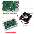 Raspberry Pi 3 Model B Kit With Built in WIFI and Bluetooth Connectivity Clear Case Cooling