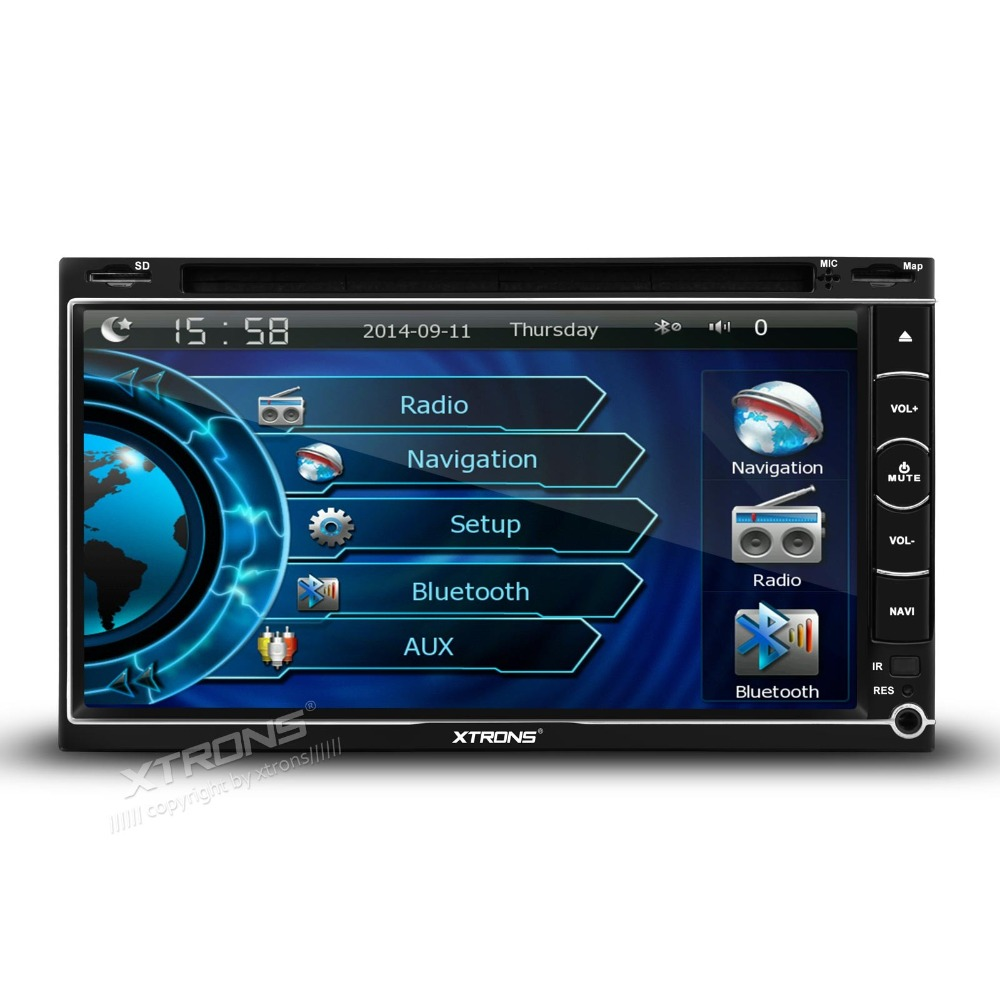 "XTRONS 2 Din 6.95"" Universal Car DVD Player GPS Navigation ..."