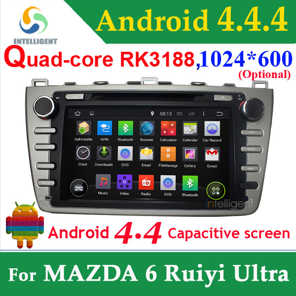 For MAZDA 6 Ruiyi mazda6 Ultra 2 din car dvd gps android 4.4 1024*600 with WIFI 3G GPS Capacitive screen USB car radio Car radio<br><br>Aliexpress