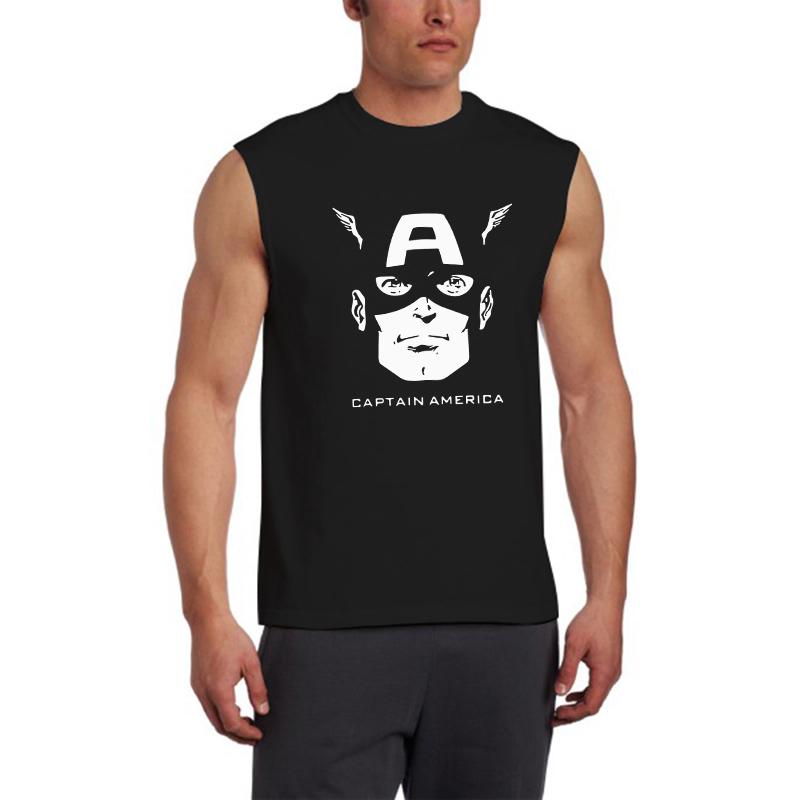 Fitness Cotton Captain America Tank Top Men Sleeveless