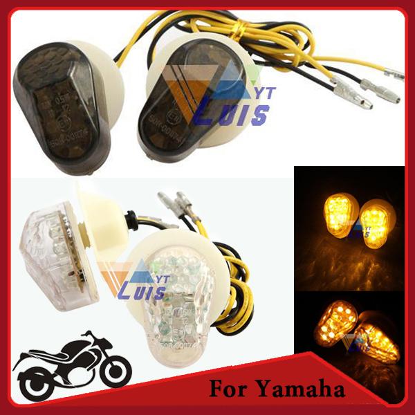 Motorcycle LED Turn Signal Indicator Flashers Amber Light for Yamaha yzf R1 R6 R6S FZIS FAZER 1000 FZ6S FAZER 600 XJ6 FZ8 FAZER(China (Mainland))